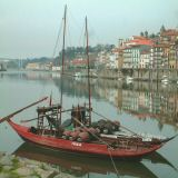 The Douro stretches east from Porto. The river was the main route for transporting wine